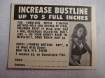 1969 Royal L'Amour Method Ad Increase Bustline Up to 5 Full Inches