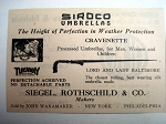 1924 Ad Siroco Umbrellas Siegel, Rothschild & Co.