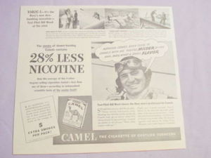 1941 Camel Cigarettes Ad With XSB2C-1 Navy Bomber