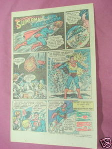 1979 Hostess Fruit Pies Ad Superman In the Ionic Storm