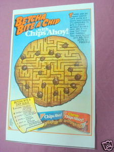 1987 Color Ad Chips Ahoy! & Chewy Chips Ahoy!