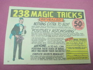 1968 Ad 238 Magic Tricks from Magic Tricks 86