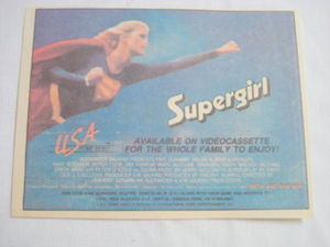 1985 Ad Supergirl Videocassette featuring Helen Slater