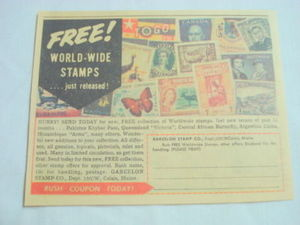 1962 Ad Garcelon Stamp Co., Calais, Maine