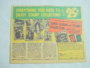 1961 Ad Zenith Co., Brooklyn, N.Y. Stamp Collecting