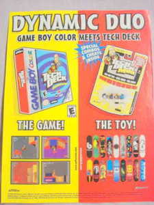 2001 Ad Video Game & Toys Tech Deck Skateboarding