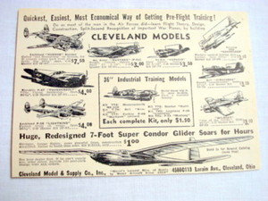 1943 Ad Cleveland Model & Supply Co., Cleveland, Ohio