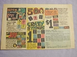 1966 Ad Weird-Ohs and Monster Crazy Labels, Crazy Stamps and Signs