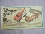 1969 Ad Matchbox Models Ford Heavy Truck and Eight Wheel Tipper