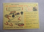 1959 Ad Joe Palooka Home Gym by B&M Sportoy