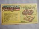 1963 Ad Tootsie Roll Fudge Game of the Month Fudge Hunt