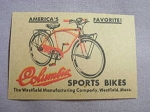 1959 Ad Columbia Sports Bikes Westfield Manufacturing Company, Westfield, Mass.