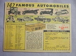 1963 Ad 147 Famous Automobiles 1915-1963 Made of Plastic Styrene