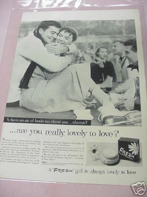 1955 Fresh Cream Deodorant Ad Pharma-Craft Corp.