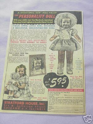 1948 Ad The Personality Doll Stratford House, Inc.
