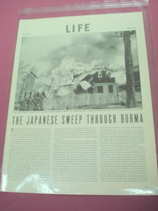 1942 Life Magazine Japanese Sweep Through Burma WWII