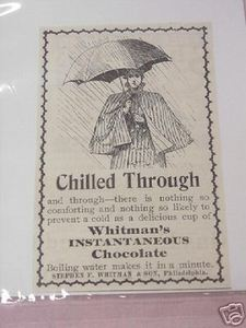 1897 Ad Whitman's Instantaneous Chocolate Hot Chocolate