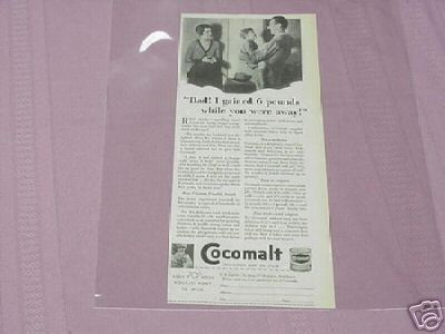 1930 Cocomalt Illustrated Ad Delicious Hot or Cold