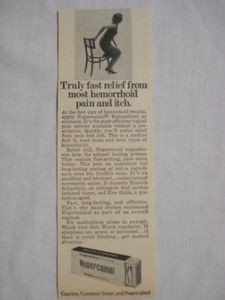 1969 Nupercainal Ad Truly Fast Relief From Most Hemorrhoid Pain and Itch