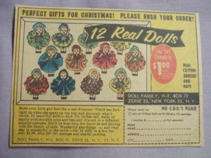 1959 Ad 12 Real Dolls from Doll Family