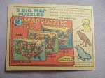 1959 Ad 3 Big Map Puzzles by Bilt-Rite Toys Lafayette, Ind.