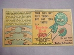 1962 Ad Tootsie Roll Pop With Mystery Finger Illusion