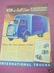 1940 International Trucks Ad New Model D-400