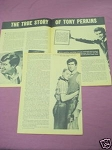 1958 Tony Perkins 4 Page Magazine Article