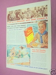 1940 Post Toasties Corn Flakes Breakfast Cereal Ad