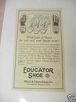 1921 Educator Shoe Ad Rice & Hutchins, Inc., Boston