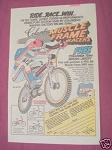 1983 Ad Columbia Bicycle Muscle Frame Racers