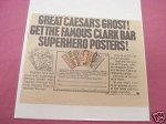 1978 Clark Bar Ad Superhero Posters