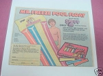 1979 Mr. Freeze Pops Ad Mr. Freeze Pool Float