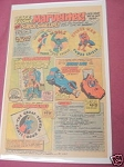 1977 Superheroes Ad Marvel Power Shields, Spidey Car