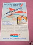 1976 Ad Monogram Models 1/48th F-16 Fighter Plane