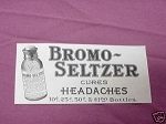 1909 Ad Bromo-Seltzer Cures Headaches