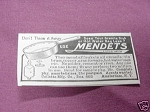 1909 Ad Mendets, Collette Mfg. Co. Amsterdam, N. Y.
