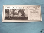 1927 Ad The Cottage Inn, Falmouth, Mass.
