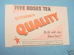 1945 South Africa Ad Five Roses Tea