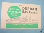 1945 South Africa Ad The Durban Bag Co. (PTY.) LTD.