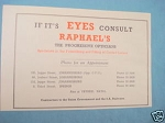 1945 South Africa Ad Raphael's Opticians