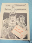 1945 South Africa Ad Commando The Best of Good Brandies