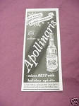 1937 Ad Apollinaris Mineral Water