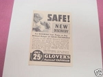1940 Glover's Imperial Capsules Ad For Worming Puppies