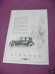1923 Lincoln Motor Company Ad Featuring The Berline
