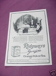 1923 Ad Ridgways Genuine Orange Pekoe Tea