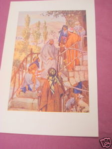 1913 Religious Illustrated Page The Woman of Canaan
