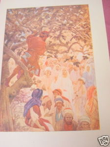 1913 Religious Illustrated Page Conversion of Zacchaeus