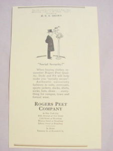 1941 Ad Rogers Peet Company NYC and Boston
