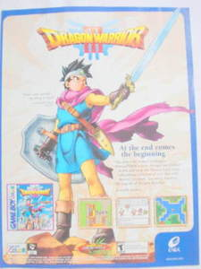 2001 Ad Video Game Dragon Warrior III by Enix